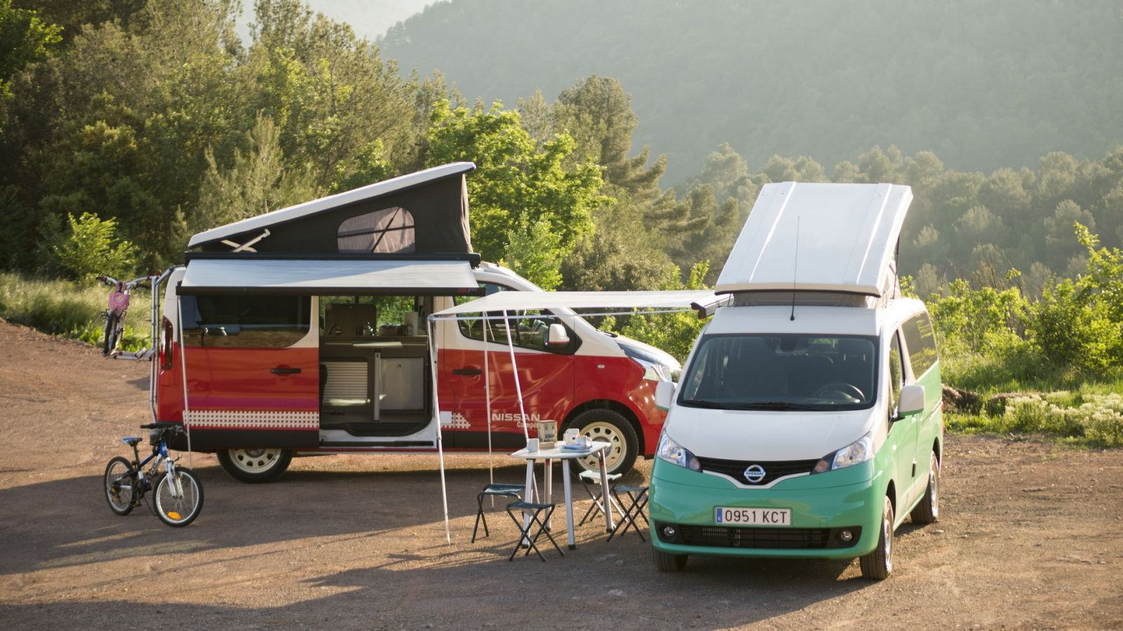 Nissan e-NV200 and NV300 Camper Vans