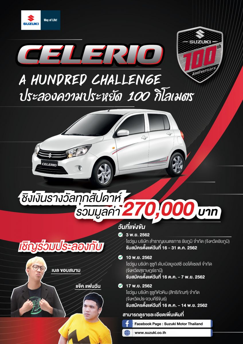 CELERIO A HUNDRED CHALLENGE
